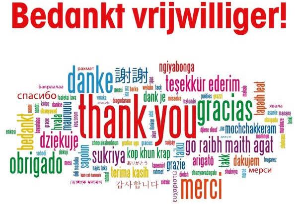 Vrijwilligers bedankt met leuke video boodschap